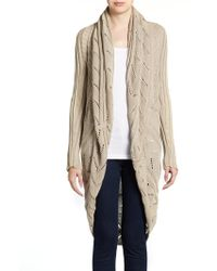 Cotton by Autumn Cashmere | Knit Openfront Cardigan | Lyst