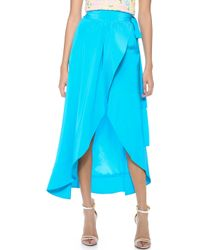 Cynthia Rowley Long Wrap Skirt - Lyst