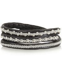 Maria Rudman - Agnetha Embroidered Leather Wrap Bracelet - Lyst