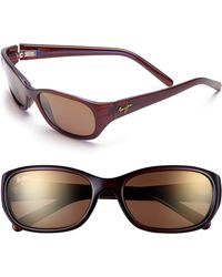 Maui Jim Kuiaha Bay 55mm Polarized Sport Sunglasses - Lyst
