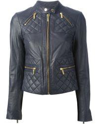 MICHAEL Michael Kors Quilted Biker Jacket - Lyst