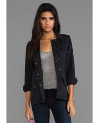Velvet By Graham & Spencer Velvet X Lil Aldridge Ruby Jacket in Black - Lyst