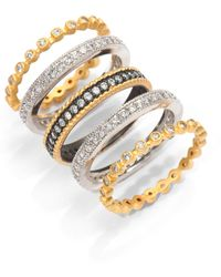 Belargo - Mixed Stackable Ring Set - Lyst