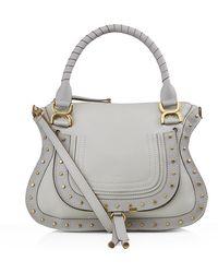 Chloé Medium Marcie Studded Shoulder Bag - Lyst