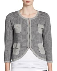 Cotton by Autumn Cashmere | Plaid Pocket Cardigan | Lyst