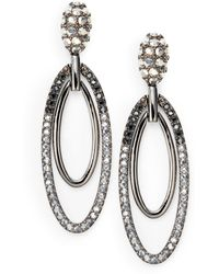 Judith Leiber - Pave Crystal Oval Drop Earrings - Lyst