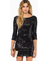Tobi See Me Sequin Bodycon Dress - Lyst