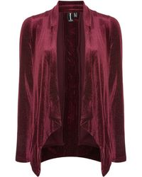 Izabel London - Flecked Velvet Drape Blazer - Lyst