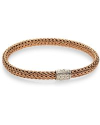 John Hardy Small Bronze And Silver Chain Bracelet - Lyst