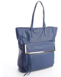 Kelsi Dagger Blue Leather 'Arielle' Snap Closure Tote - Lyst