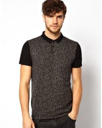 River Island Polo Shirt with Leopard Print - Lyst