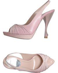 Rene Caovilla Platform Sandals - Lyst