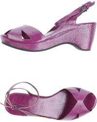 Roberto Del Carlo Platform Sandals - Lyst
