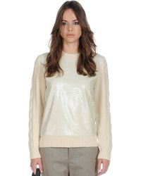 Stefanel Sequin Sweater - Lyst
