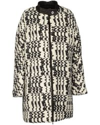 Vanessa Bruno Athé - Texturedpattern Knitted Coat - Lyst