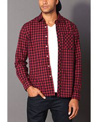 Forever 21 - Classic Fit Plaid Shirt You've Been Added To The Waitlist - Lyst