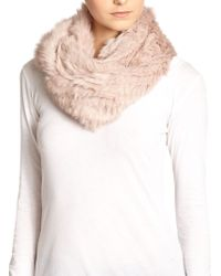 Annabelle New York Rabbit Fur Circle Scarf - Lyst