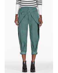 Band Of Outsiders Green Winged Military Trousers - Lyst
