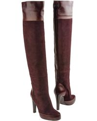 D&G Purple High-Heeled Boots - Lyst