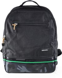 Diesel Black Camo Backpack - Lyst