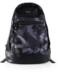 Diesel Camo On The Road Backpack - Lyst