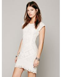 Free People Beverly Crochet Dress - Lyst