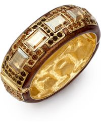 Judith Leiber - Glamour Crystal & Enamel Cuff Bracelet - Lyst