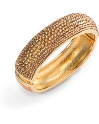 Judith Leiber - Glitz Swarovski Crystal Bangle Bracelet - Lyst
