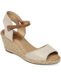Lucky Brand Women'S Kyndra Demi Platform Wedge Sandals - Lyst