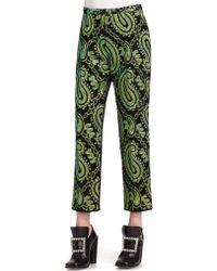 Marc Jacobs Satin-Back Jacquard Pants - Lyst
