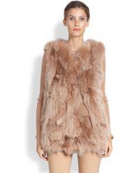 Michael Kors Fox Fur Vest - Lyst
