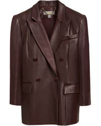 Mulberry Double Breasted Blazer - Lyst