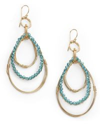 Nunu - Triple Teardrop Earringsblue - Lyst