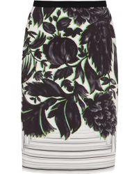 Peter Pilotto Erin Canopy Print Pencil Skirt - Lyst