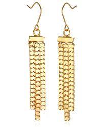 Piper Strand Gold Chain Fringe Earrings - Lyst