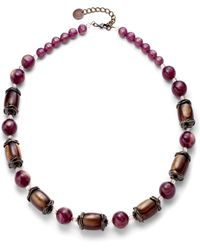 Pono - Iridescent Heirloom Necklaceplum - Lyst