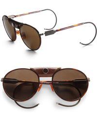 Proenza Schouler - Round Metal Acetate Sunglasses - Lyst