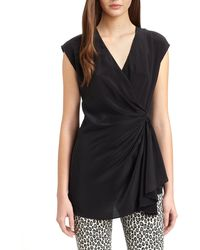 Rachel Zoe Blakely Silk Surplice Top - Lyst