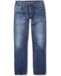 Raleigh Denim Jones Slimfit Washed Selvedge Denim Jeans - Lyst