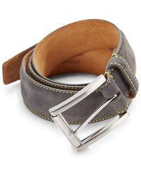 Robert Graham Laurel Nubuck Leather Belt - Lyst