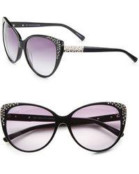 Saks Fifth Avenue - Kat Oversized Cat's-eye Embellished Plastic Sunglasses - Lyst