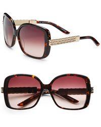 Saks Fifth Avenue - Kristin Oversized Square Embellished Plastic Sunglasses - Lyst