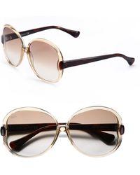 Tod's Twotone Round Acetate Sunglasses - Lyst