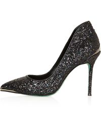 Topshop Black Snow Point Court Shoes  - Lyst