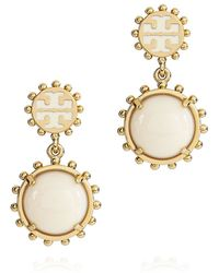 Tory Burch - Winslow Logo Drop Earring - Lyst