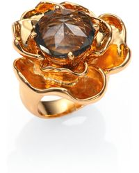 Tory Burch Crystal Rose Ring - Lyst