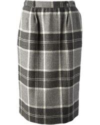 Valentino Vintage Tartan Skirt - Lyst
