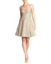 Z Spoke by Zac Posen Geometric-print Flared Dress - Lyst