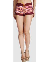 Adidas Beach Trousers purple - Lyst