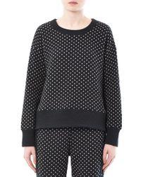 Elizabeth and James - Polka-Dot Cotton Sweatshirt - Lyst